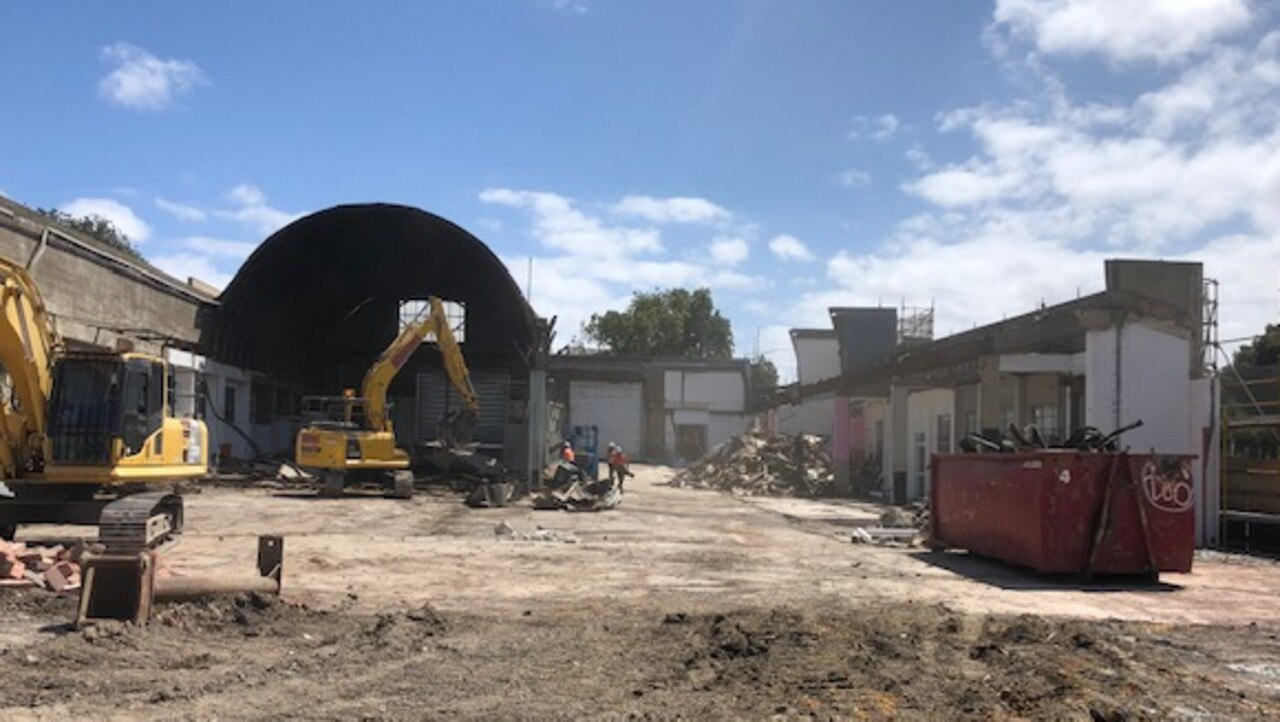 The bolt barrel-vaulted roof comes down from the old Trans Otway building at 44 Ryrie St, Geelong. Picture: Supplied
