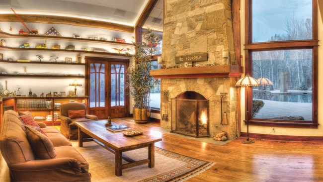 Settle in for a night at home in front of the fire place. Picture: TopTenRealEstateDeals.com.au