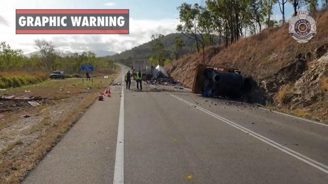 Man dies in horror truck crash