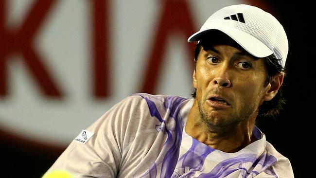 Fernando Verdasco didn't play a bad match but Djokovic was simply too good. Picture: Mark Stewart