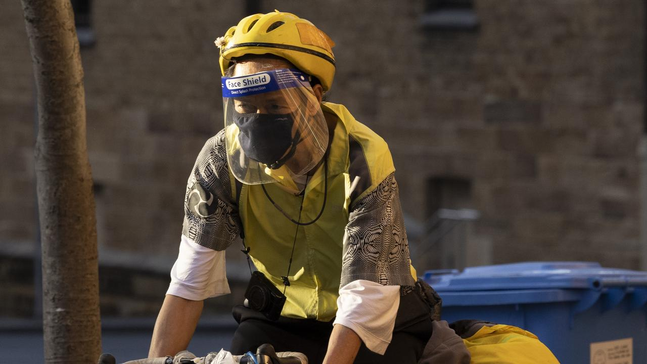 Face masks aren't mandatory while exercising but use common sense if there are people around. Picture: Brook Mitchell/Getty Images