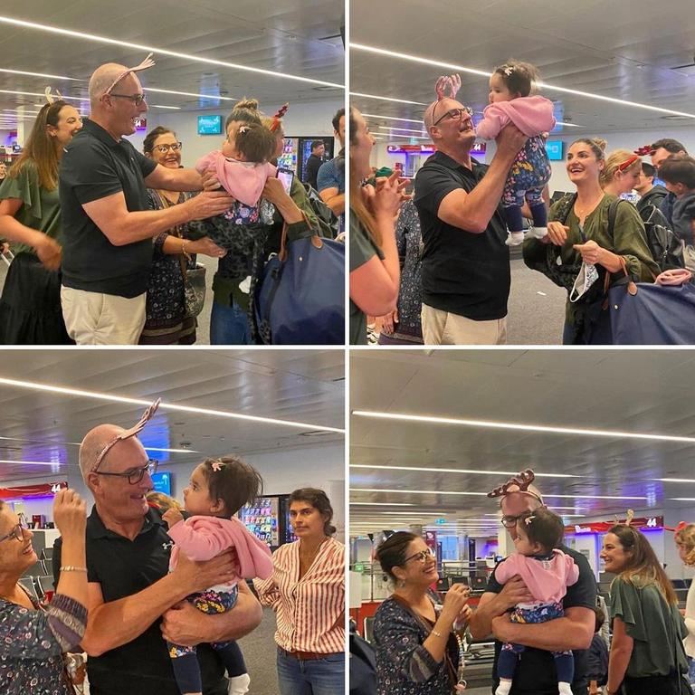 Kochie met his granddaughter for the first time.