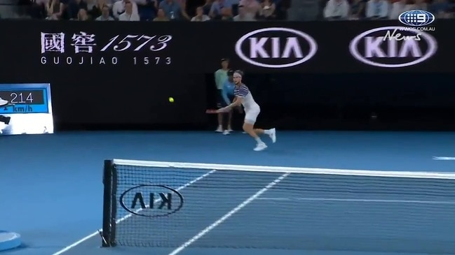 Alexander Zverev serves up two aces to secure the game