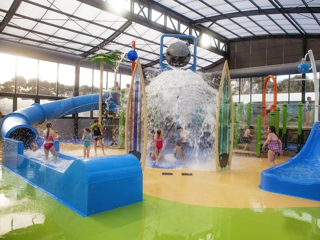 BIG4 INVERLOCH HOLIDAY PARK, VICTORIA: Inverloch, on the Gippsland coast southeast of Melbourne, is home to the first indoor heated splash park in a caravan park in Australia. The Surfari Splash Zone has seen the popular summer destination transformed into a year-round family holiday spot. Inspired by the region's surf beaches, it features slides, fountains, water cannons and tipping buckets. big4.com.au/inverloch