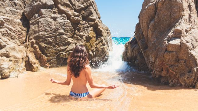 8/10You don't have to nude up Just because you're at a nudist beach, doesn't mean you have to totally ditch your cozzie. Stick to what feels comfortable for you. After all, having a good time is what it's all about!See also:I lost my nude beach virginity. Here's what I learned