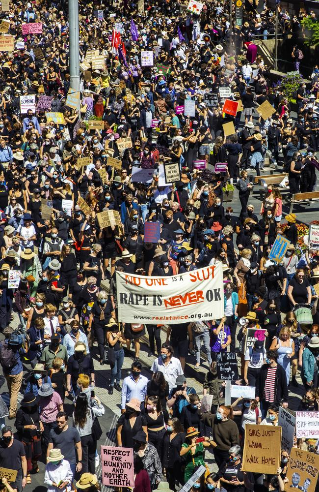 The March 4 Justice rally in Sydney last month. Picture: Jenny Evans/Getty Images