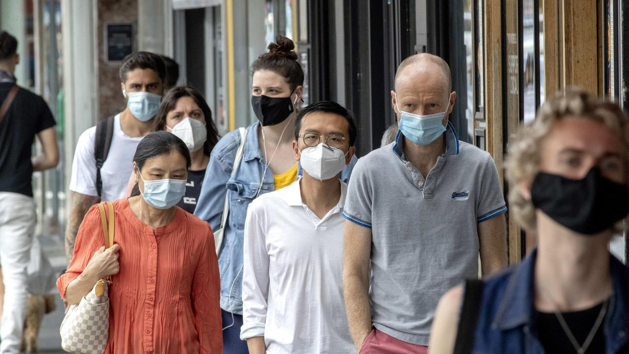 Masks are no longer mandatory outdoors in Victoria. Picture: NCA NewsWire / David Geraghty