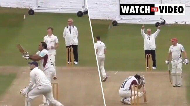 English cricketer hits massive six through own car's windscreen