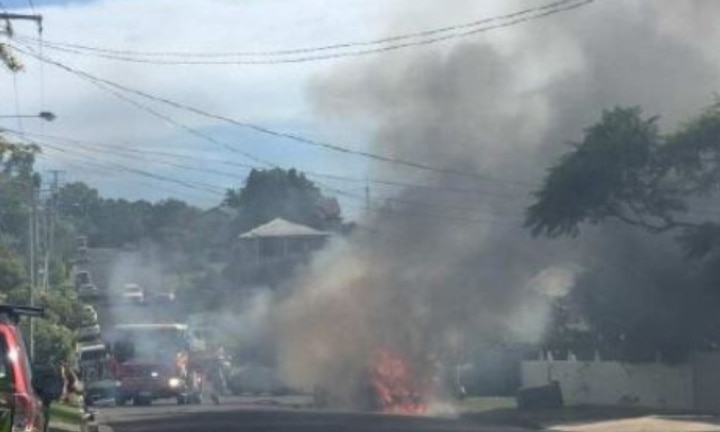 Four people including children dead in car fire