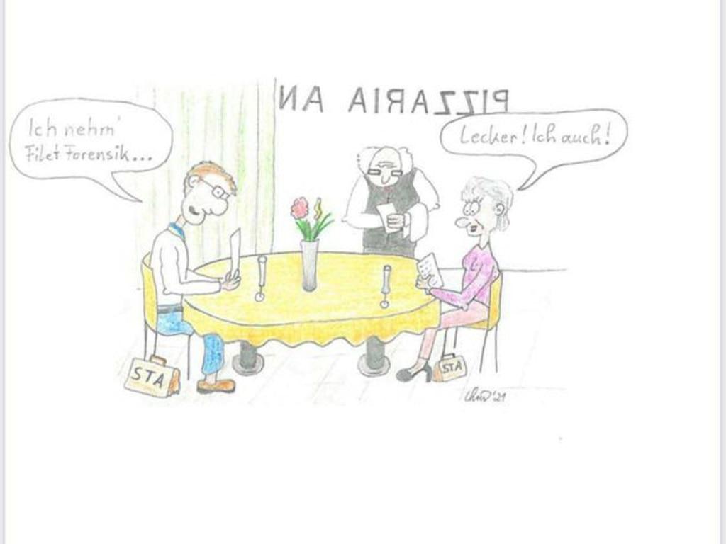 A bizarre cartoon sketch by key Madeleine McCann suspect Christian B. Picture: BILD Fotoservice