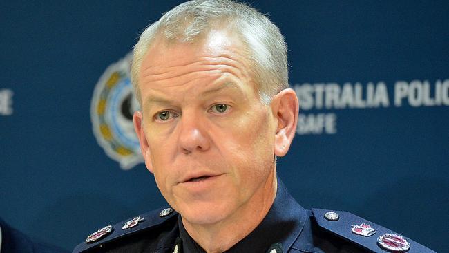 Police commissioner Grant Stevens.