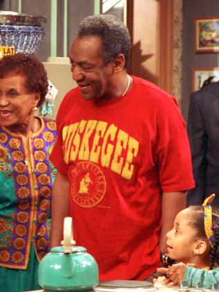 Cosby on the set of The Cosby Show in 1992.
