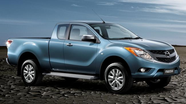 Nineteen variants: BT-50 comes with freestyle, above, plus dual and single cabs, two diesel options, three trim grades and RWD/AWD.