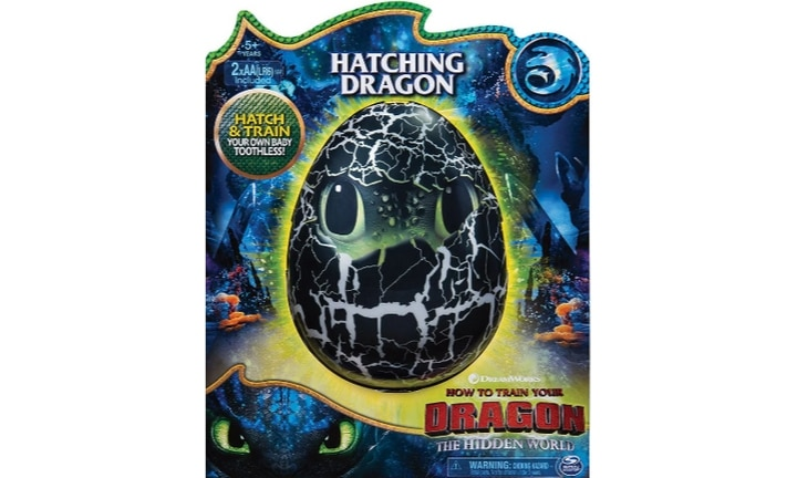 <b>HOW TO TRAIN YOUR DRAGON HATCHING TOOTHLESS.</b>  Hatch and train the rarest, fastest and smartest of dragons: Toothless! Every dragon-obsessed kid is going to love watching his egg rock and roll and hearing him growl from deep within until he breaks out of his shell and becomes your child's new very best friend.