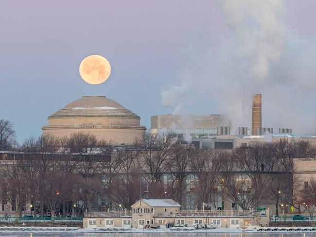 Social media lit up with pictures of the supermoon that saw in the new year. Picture: Twitter