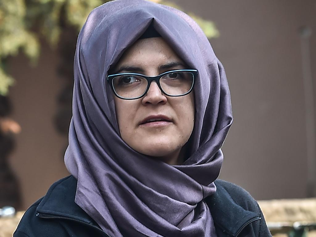Jamal Khashoggi was due to marry fiancee Hatice Cengiz. Picture: AFP