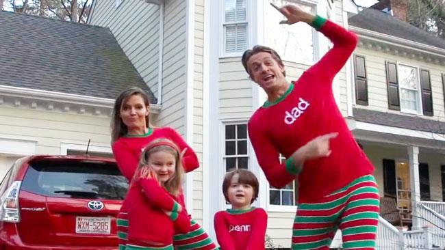 Dorky Christmas video goes viral