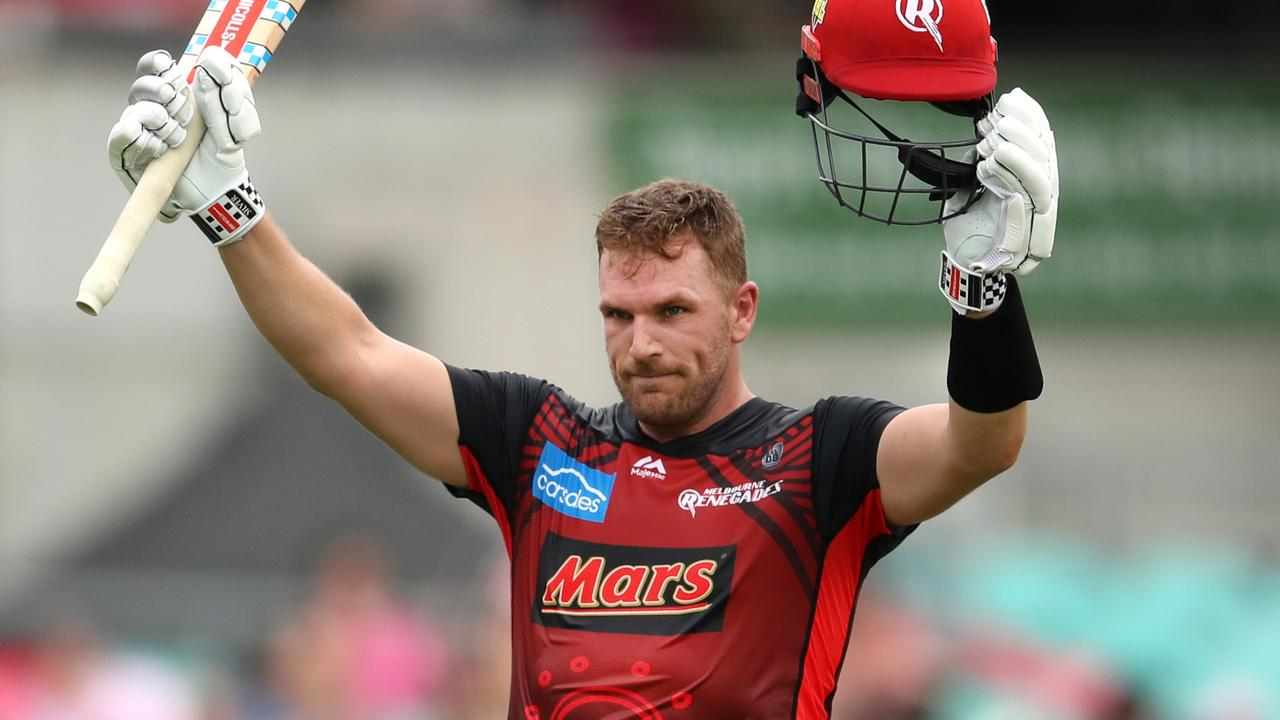 Aaron Finch played one of the most glorious innings of the BBL season on Saturday.