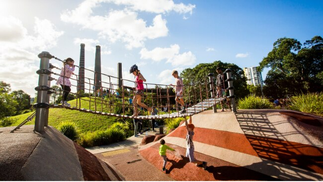 BEST SYDNEY PLAYGROUNDS In the last couple of years, councils have invested in Sydney's playgrounds, transforming humble slippery dips into adventure-filled play spaces. Sydney Park Playground is an inner-city oasis where the kids can run wild. The former brickworks boasts 40 hectares of open space with plenty of tracks to walk and ride, rolling hills and wetlands to explore.
