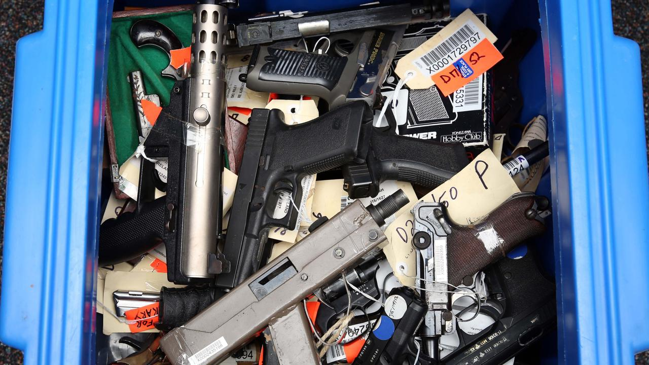 Some of the guns handed in during the national firearm amnesty