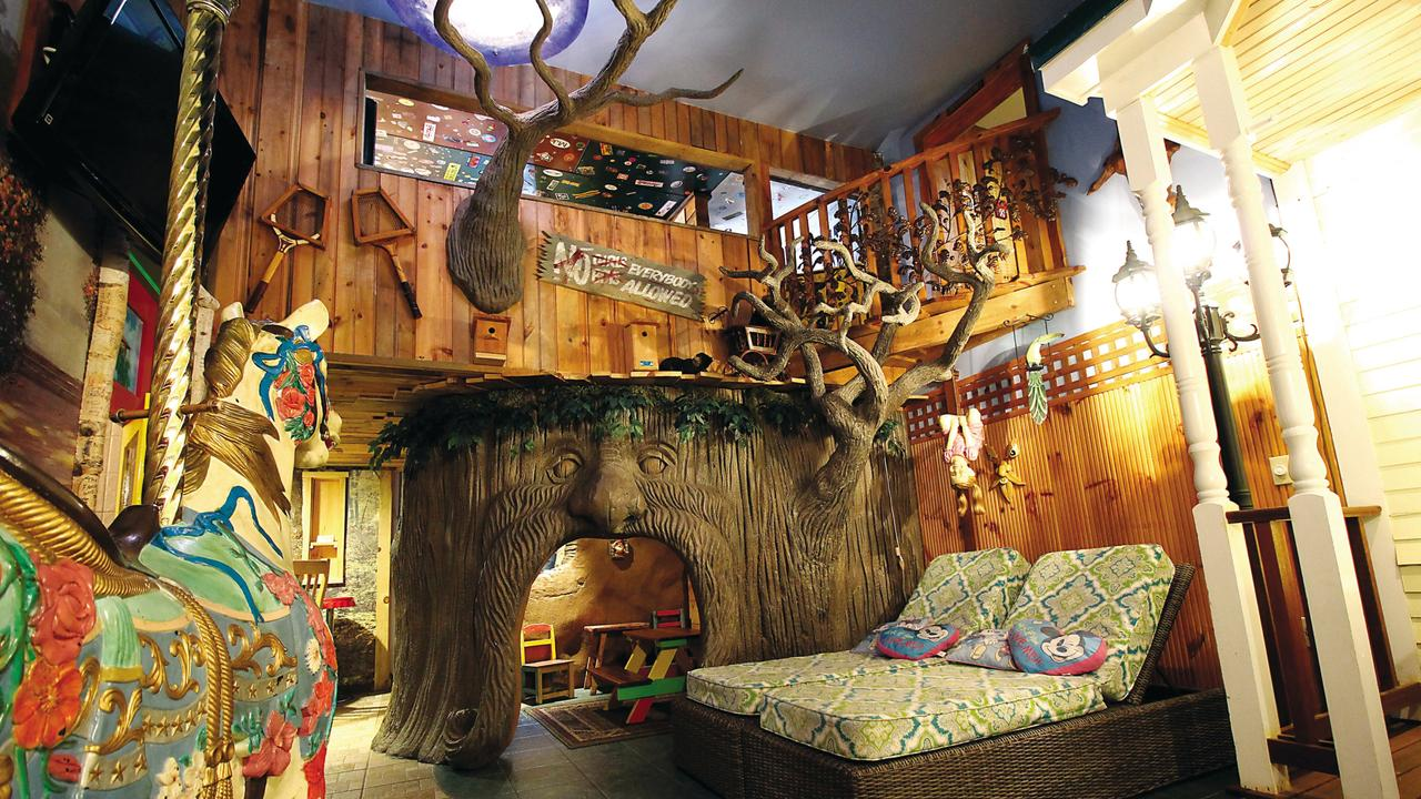 Things are getting a bit weird in the Treehouse at Adventure Suites. Picture: Adventure Suites