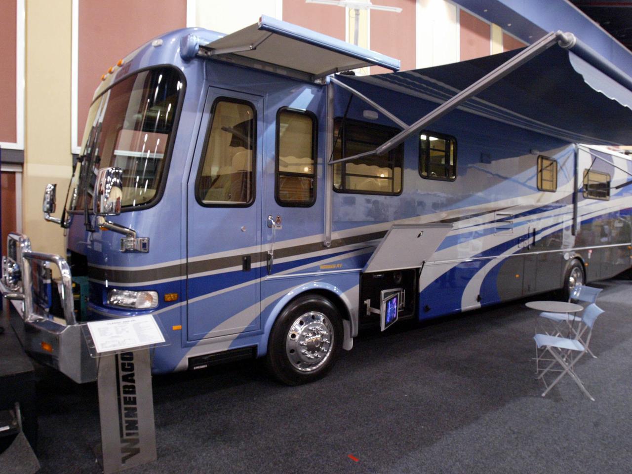 Winnebago luxury motorhome worth $590,000 at Caravan and Camping Show at Wayville Showgrounds 22 Feb 2006. motor home