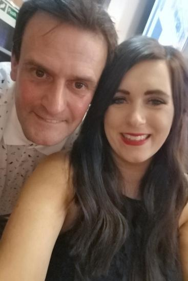 EMBARGO 14.00HRS GMT WEDNESDAY OCTOBER 28 Selina and Steven Robson. See SWNS story SWFTagegap. A couple say they want to have 'as many kids as possible' before it's too late - because they have a 29-year age gap. Selina Robson, 25, met her now-husband, Steven, 54, in October 2017 and in the three years they've been together, they've got married in Vegas, had their son Archie, one, and now have another baby on the way. The couple, from Dumfries, Scotland, 'clicked instantly' when they first met at their local pub, where Selina worked behind the bar. Steven admits he thought he would never have a wife or a family, and was living with his mother when he first met Selina - so is over the moon to have proved himself wrong.
