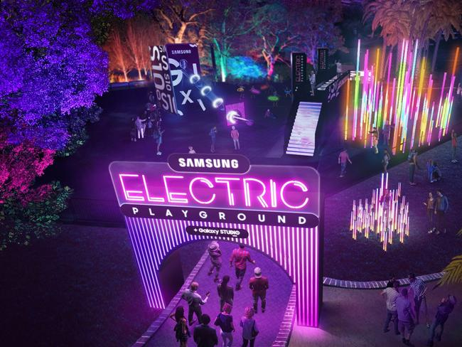 15. VIRTUAL REALITY Reimagine the way you see Vivid Sydney with Samsung's Galaxy 10 at First Fleet Park.