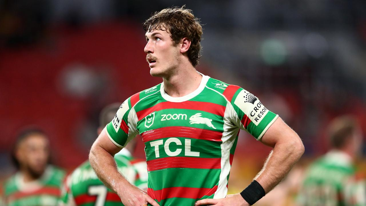 South Sydney star Campbell Graham has lifted the lid on how Wayne Bennett gets his team fired up for the finals. Picture: Chris Hyde / Getty Images