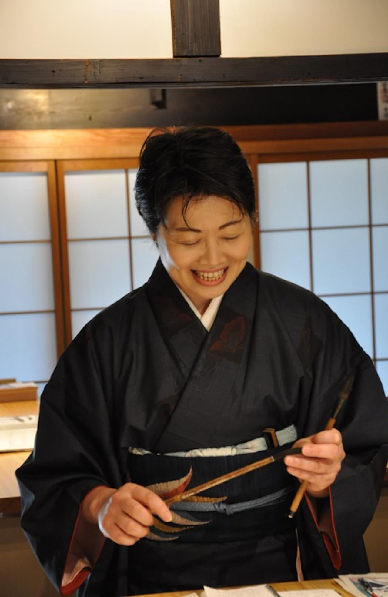 ESCAPE: TRAVEL LESSONS BY MARGARET BARCA - Calligraphy in Kyoto: Kasho Shirai, instructor of Calligraphyat Kafu. Picture: Supplied