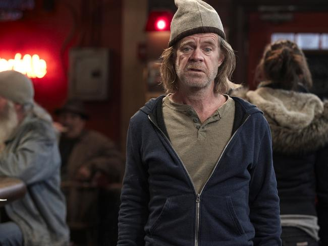 William H Macy plays single dad Frank Gallagher in the hit American remake of the UK TV comedy Shameless. Supplied: Foxtel.