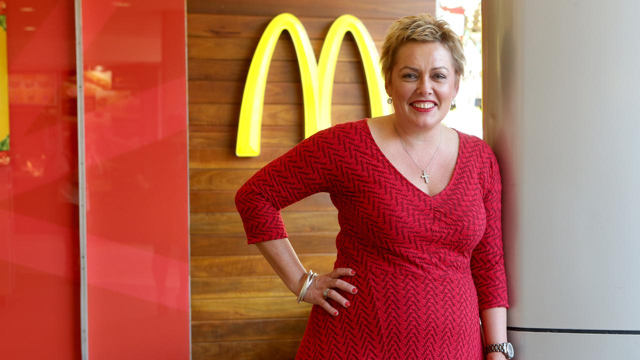Tanya Manteit-Mulcahy is the owner of the one of the largest McDonald's franchise groups in Australia, which has threatened staff with banning toilet and water breaks. Picture: Jono Searle