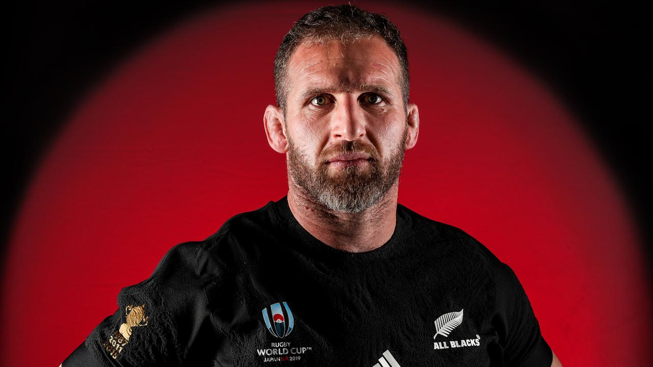 Kieran Read of the All Blacks poses for a portrait in Auckland.