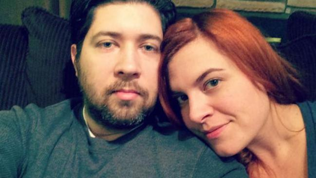 Brittany Gibbons with her husband Andy.