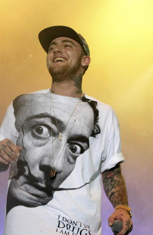 Mac Miller became reliant on codeine after his overnight success. Picture: Owen Sweeney