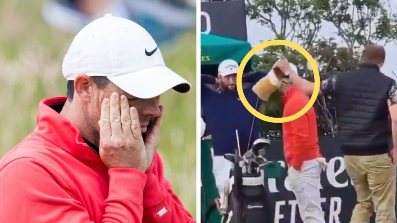 Golf fan arrested for 'strange' act.
