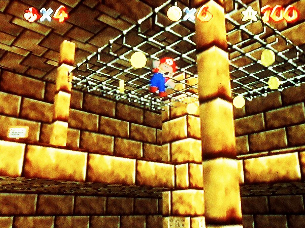 Nintendo of America 64 flagship computer game, Super Mario 64.  /Computer/games