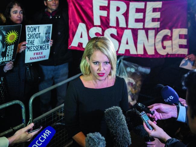 Australian human rights lawyer Jennifer Robinson. Picture: Getty