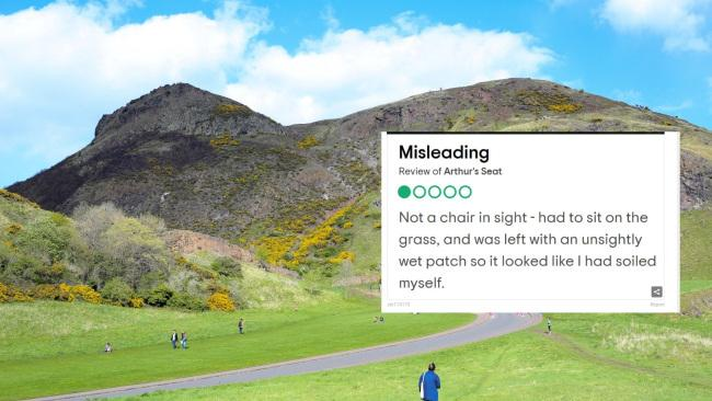 That is a profound review of Arthur's Seat in Scotland.