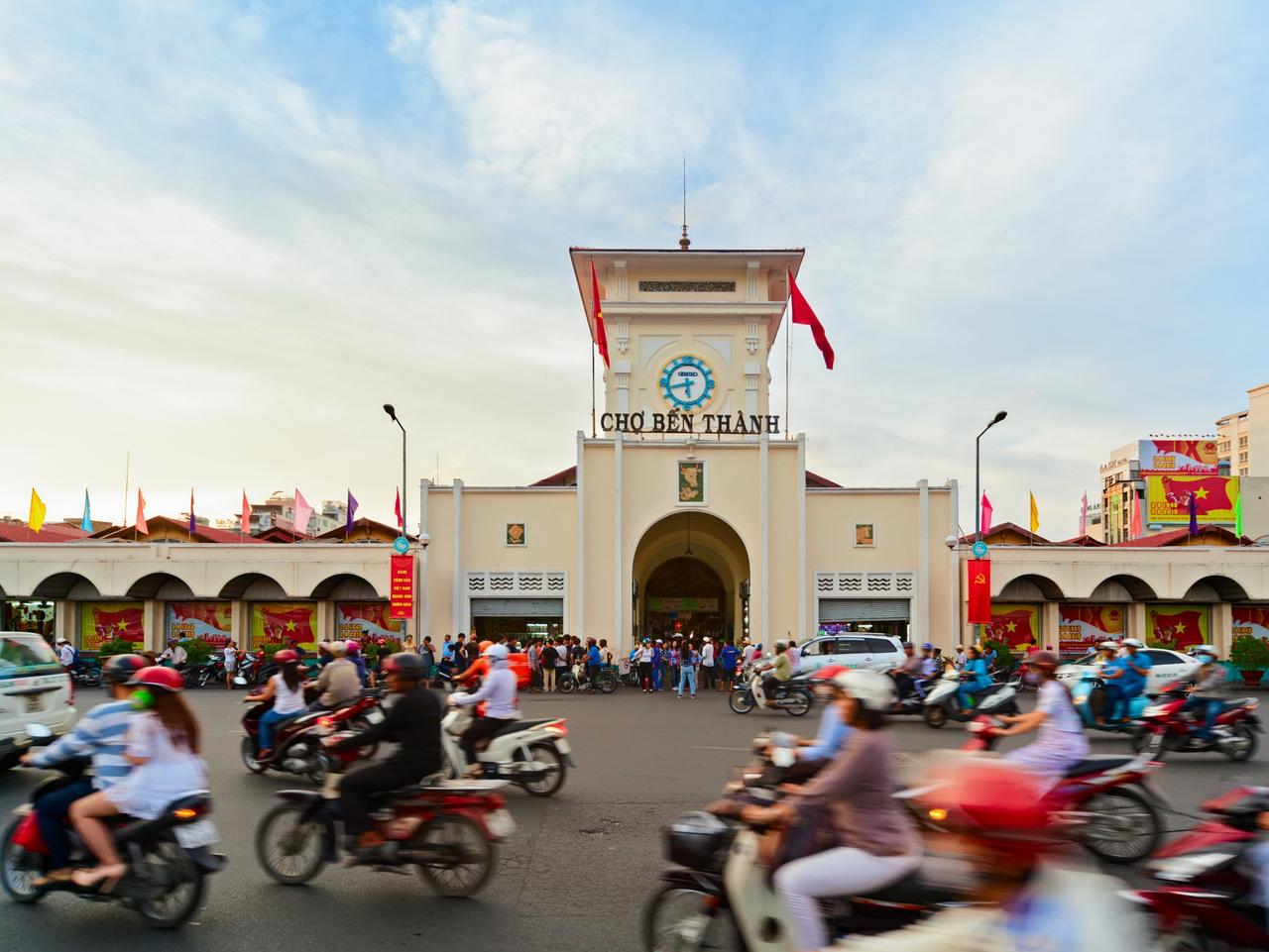 Traditional Ben Thanh market in Ho Chi Minh city, Vietnam