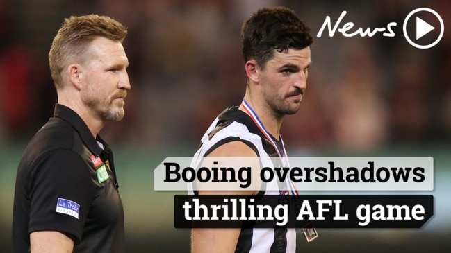 Booing overshadows thrilling AFL game