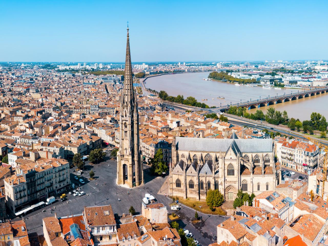 Bordeaux aerial panoramic view, France