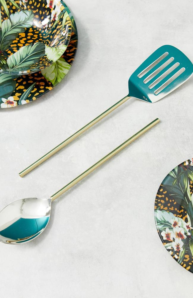 This gold handled kitchen serving set will set you back just $32.