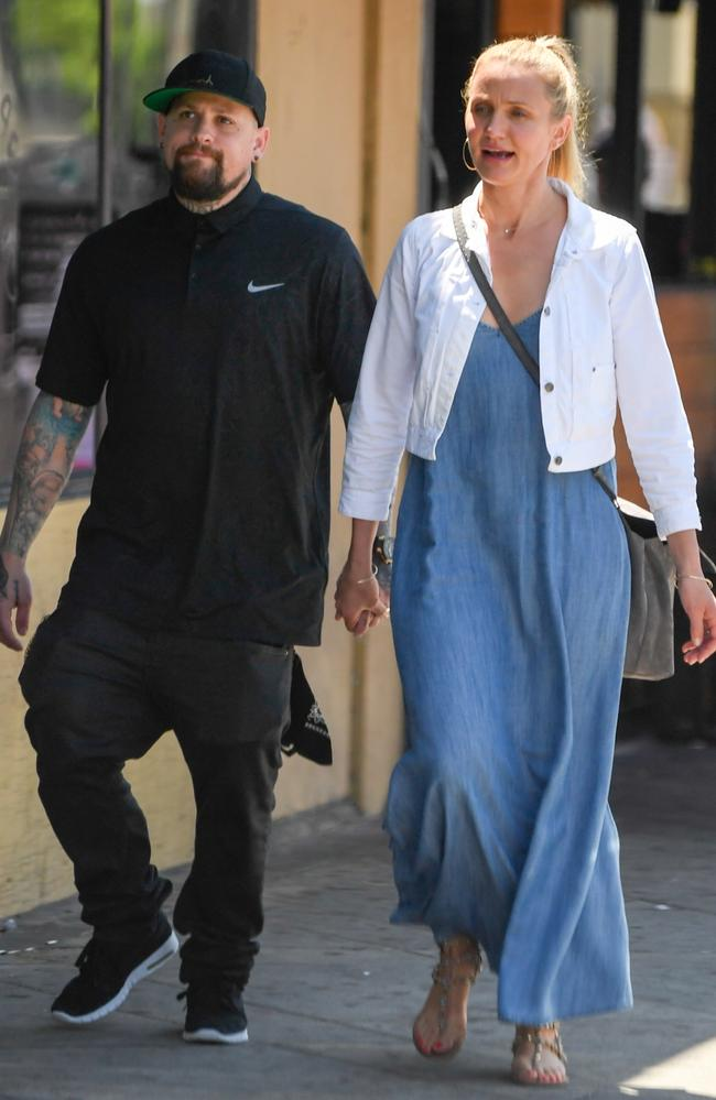 Cameron Diaz and Benji Madden were married in 2015. Picture: Splash News.