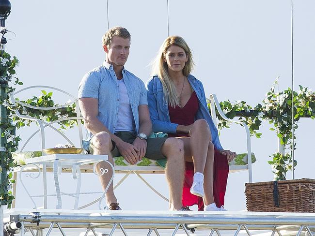Megan and Richie on one of the first private dates of the series.