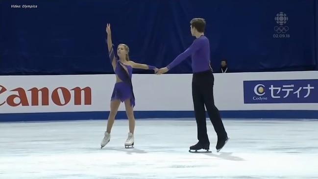 Australians Ekaterina Alexandrovskaya and Harley Windsor skating at the Jr Worlds