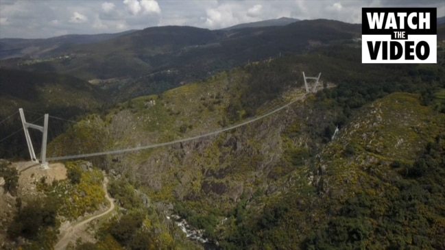 Portugal opens world's longest suspension footbridge