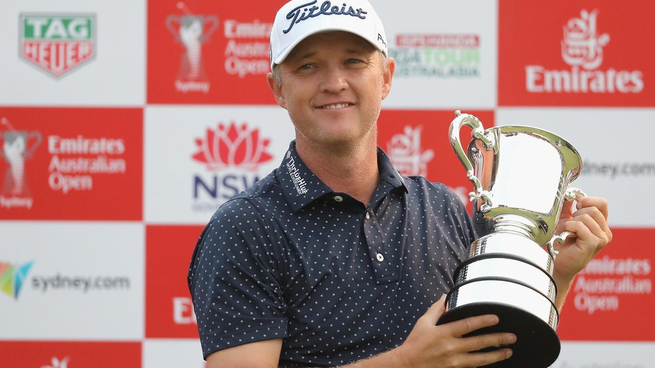 Australia's Matt Jones won the last Australian Open golf tournament in 2019. Picture: AAP Image/Jeremy Ng