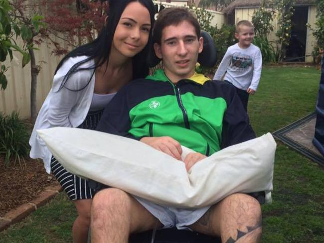 Josh Taylor, pictured with girlfriend Paige Day, shot himself in the head during a game of Russian roulette.