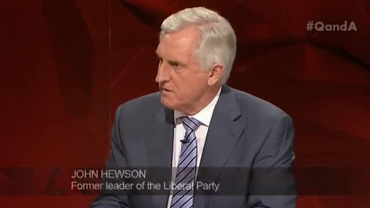 John Hewson says Channel 9 pushed chequebook journalism too far